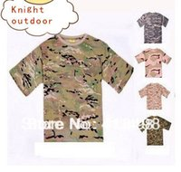 Wholesale TACTICAL ARMY COMBAT T SHIRT Man s T shirt O neck T shirt colours can choose