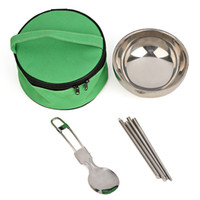 Wholesale Travel Stainless Steel Cutlery Set Bento Lunch Box Lancheira With Chopsticks amp Spoon amp Bowl