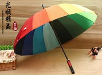 Wholesale K Rainbow umbrella straight rod automatic umbrella EMS DHL FEDEX Shippment