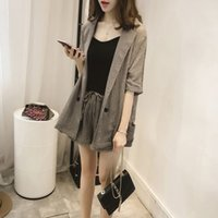 Wholesale Suit female Korean new summer fashion OL thin coat cotton short pants two piece