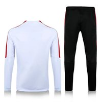 Wholesale Thailand quality new season PSG white sweater long sleeve match black pant sweater tracksuit set soccer training suit