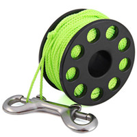 Wholesale 30m Colors EZDIVE GL30 Polyurethane Coated Nylon Scuba Diving Finger Spool Reels with Double Ended Snap H210716