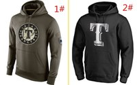 Wholesale MLB Rangers hoodies Baseball jerseys Texas Salute To Service Platinum Collection Pullover Hoodie freeshipping