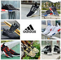 Wholesale Adidas NMD Runner R1 W quot Blue Glow quot Shoes Originals Casual Men Women Running Shoe White Eur Sport Runners Sneakers Classic With Box