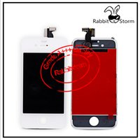 Wholesale LCD For iPhone S Display Black or White Touch Digitizer with ear dust mesh and a camera ring Free China Post Shipping