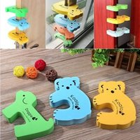 Wholesale Thick Child Door Stopper kids Baby Animal Cartoon Jammers Stop Door stopper holder lock Safety Guard Finger Protect Random Color