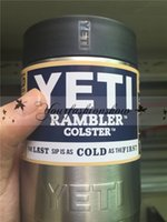 Wholesale In Stock New oz can Yeti Vacuum Insulated Rambler Colster Insulated Stainless Steel Cups Z186