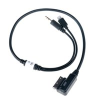 ami audio cable - Car Auto mm AUX Audio Adapter Cable MDI AMI MMI Male Interface Connect Charge Audio Adapter for Audi VW IPhone IPod