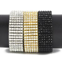 arrival zirconia fashion - Iced Out Rows Bracelet Fashion Stylish Steampuk Style Hip Hop Chain New Arrival Men Iced Out Jewelry High