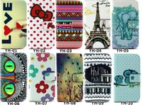 Wholesale Phone Bag Wallet Case For Samsung Galaxy S3 mini S3mini i8190 Colorful Paiting Flip Stand Soft PU Leather Cover with Card Slots