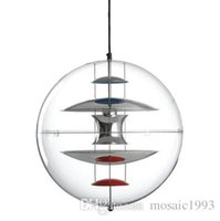 Wholesale Modern ITALY VP Globe Pendant Lights Suspension Acrylic Abajur GU10 Lamp Lighting Denmark Designed By Verner Panton Led Fixture