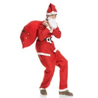 adult santa suit - XMAS Adult Costume Christmas clothing Santa Claus Suit Cosplay clothes Christmas clothing in a set suit LC421