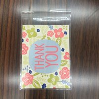 Wholesale 100 pieces cm Thank you Flower Candy Bag Self Adhesive Bags For Cookie Biscuit Snack Gift Packaging