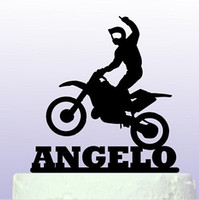 bachelor party fun - Acrylic Personalised name Fun Motocross birthday cake toppers wedding bridal baby shower Bachelor party decorations