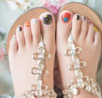 Wholesale Nail stickers natural sticky patch MZJ toenails sticker decal sticker series toenails