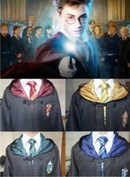 Wholesale 4 styles Harry Potter Costume Adult and Kids Cloak Robe Cape Halloween Gift Cosplay Cloak Robe Cape Harry Potter Theme Costume K479