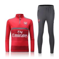 arsenal sportswear - 2016 Arsenal red sweater tracksuit Sportswear training Suits men s Clothes Trackring suits jersey mix order
