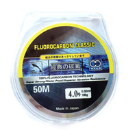 Wholesale 50M Fluorocarbon Fishing Line mm kg Japanese Carbon Fiber Leader Line High Quality s1076