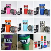 Wholesale HOT Colored Yeti oz cooler Rambler Tumbler Bilayer Stainless Steel Insulation Cups Cars Beer Mug Large Capacity Mug Tumblerful DHL Free