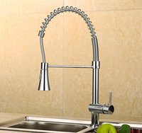 Wholesale 2016 Hot sell Spring Pull Out Kitchen Sprayer Faucet Brass Material Modern Chrome Design Hot And Cold Wash Basin Sink Mixer Tap