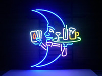 Wholesale Blue Moon Martini Cocktail Beer Pub Store Garage Display Neon Light Sign