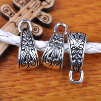 Wholesale Hualu pieces mm Connector charms mm Hole Retro Silvery Pendant Tibetan Silver Jewelry Making Fingding For necklace Bracelet