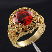 antique garnet ring gold - Jewelry Size Antique Men s Garnet K Yellow Gold Filled Ring