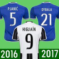 Wholesale Thai Quality Juventus soccer jerseys home away RD HIGUAIN MARCHISIO DYBALA POGBA custom football shirts
