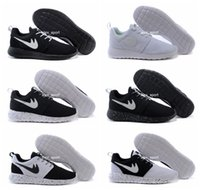 Wholesale 2016 Top Quality Classical Olympic London Roshe Running Shoes Men Women Roshe Run Black White Lightweight Sporting Shoes Sneakers Size