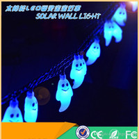 Wholesale 2016 Novelty Lighting Ghost Halloween Decorative LED String Lights Solar Power LED Lamp LED M Puzzle Lights for Decoration