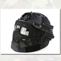 abs mask - Tactical Helmets G4 System Set PJ Helmet Overall Protection Glass Mask MC Emerson Outdoor Hunting Gear