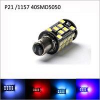 Wholesale 2pcs CANBus P21 Base Type Red White LED SMD5050 LED Car LED Brake Lights Bulbs