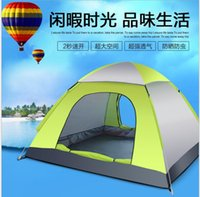Wholesale Full automatic Tents Family Camping Tent Outdoor Tent Set Camping Tent Open Up Quickly Waterproof Oxford Tent Suit Backpacking Tents