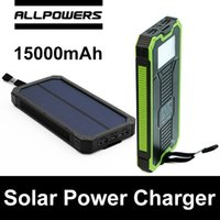 Wholesale Allpowers X DRAGON XD S15000 mAh Solar Power Charger Battery Solar Panel Waterproof Shockproof Dustproof Portable Power Bank Double USB
