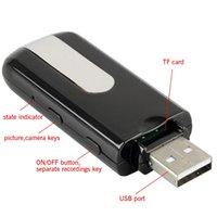 El nuevo movimiento caliente de la cámara DVR del espía del disco del USB del nuevo de la venta del espía de la cámara mini DVR U8 HD mini detecta la cámara ocultada leva de la leva de la cámara el envío libre
