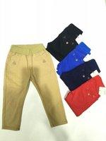 baby rib - Boys Pants Colors Baby Kids Boy Pants Baby Boy Trousers Mixed Batch Colors Elastic Cotton Ribbing Elastic Waist Baby Boy Pants