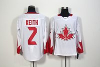 apparel world - 2016 World Cup of Hockey Duncan Keith Cannda Team Men s Hockey Jerseys White Athletic Outdoor Apparel Stitched Name number Size M XXXL
