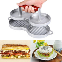 Wholesale Nonstick Hamburger Meat Beef Grill Double Burger Press Patty Maker Kitchen Mold