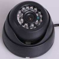 Wholesale Vandalproof TVL IR LEDs mm Lens Wide Angle View Aluminum Dome Security Camera White Black