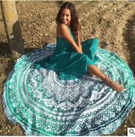 Wholesale 2016 New Retro Floral Hippie Boho Summer Beach Throw Towel Yoga Mat Decorative Wall Hanging Indian Mandala Tapestries Home Decor