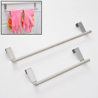 bath cabinet doors - Portable Stainless Steel Towel Bar Tower Holder Hanger for Kitchen Bathroom Cabinet Cupboard Door Hanger Hanging Bar Hook JI0174