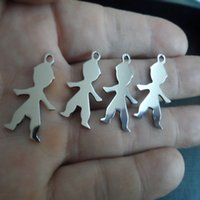 baby bulk items - in bulk best Items New Cute Baby Boy pendant stainless steel Silver Tone Fashion Jewelry DIY Charms