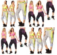 active capri pants - women Capri pants Crazy Happy Harem Dance Pants yoga pants black gery