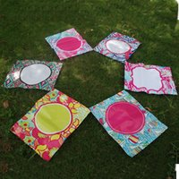 Wholesale BLANKSMALL PVC Material Floral Garden Flags Sailing Yard Flag in color Garden Decorations Via FedEx DOM336