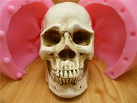 Wholesale 3D big skull fondant cake mold silicone mold chocolate mold soap soap candles tool