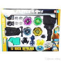 Wholesale 3 Set Beyblade Metal Fusion Set Children Super Battle New Launcher Super Top Metal Fight Beyblade Toy Set Kids Christmas Gift