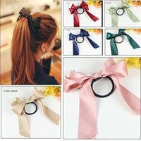 Wholesale 2016 new fashion jewelry bow hair accessories ribbon Bowknot elastic headbands for women bunny ear headband Elasticity wreath