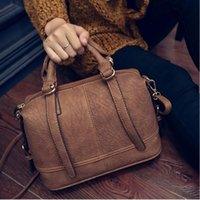 Wholesale New fashion handbags black gray purple brown Boston PU leather handbag women shoulder bag Messenger woman bags