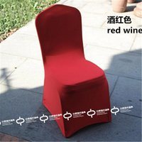 Wholesale 10pcs Hotel chair covers wedding chair cover thickening large elastic banquet
