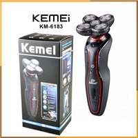 Wholesale KEMEI KM Washable Heads Rechargeable Electric Shaver Triple Blade Electric Razor Men s Face Care D Floating Shaver